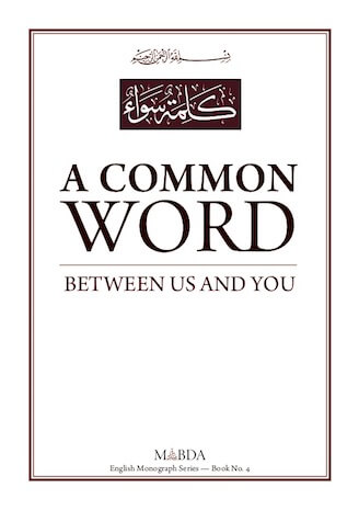 A Common Word Between Us and You
